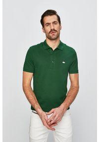Zielona koszulka polo Lacoste polo, krótka