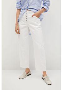 Białe jeansy mango #9