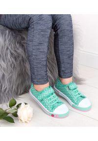 UNDERLINE - Trampki dziecięce Underline 8C181102 Zielone. Zapięcie: rzepy. Kolor: zielony. Materiał: tkanina, skóra, guma
