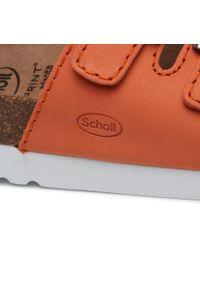 Pomarańczowe klapki Scholl casualowe, na co dzień