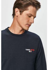 Niebieska bluza nierozpinana Tommy Jeans melanż, na co dzień