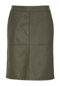 Soyaconcept Spódnica ze sztucznej skóry Gunilla khaki female zielony 42. Kolor: zielony. Materiał: skóra. Styl: elegancki
