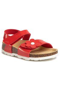 Czerwone sandały Superfit na lato, z aplikacjami