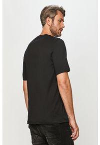 Czarny t-shirt adidas Performance z nadrukiem