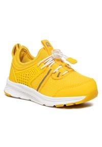Reima - Sneakersy REIMA - Luontuu 569477 2380. Okazja: na spacer. Kolor: żółty. Materiał: skóra, skóra ekologiczna, materiał. Szerokość cholewki: normalna