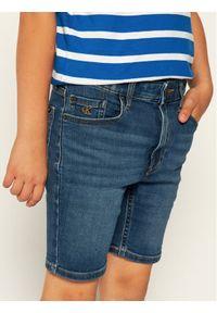 Niebieskie spodenki jeansowe Calvin Klein Jeans