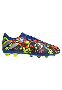 Adidas - Buty piłkarskie dla dzieci adidas Nemeziz Messi 19.4 FG Jr EH0598. Zapięcie: sznurówki. Materiał: syntetyk, guma, materiał. Szerokość cholewki: normalna. Sport: piłka nożna