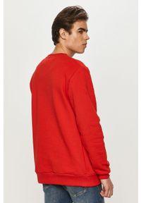 Czerwona bluza nierozpinana Prosto. bez kaptura, casualowa, na co dzień, z nadrukiem