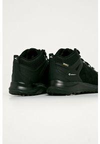 Czarne buty trekkingowe keen z cholewką, na sznurówki