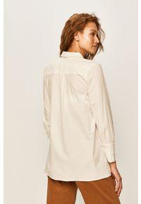 Biała koszula ANSWEAR z klasycznym kołnierzykiem, długa