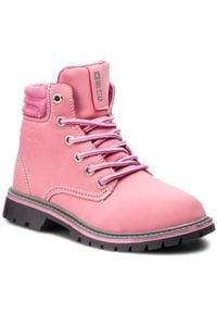 Big-Star - Trapery BIG STAR - BB374124 Pink. Okazja: na spacer. Kolor: różowy. Materiał: skóra. Sezon: zima