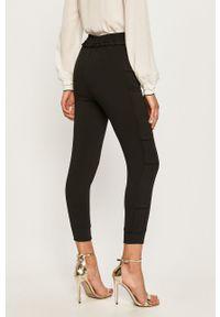 Czarne spodnie materiałowe TwinSet z podwyższonym stanem