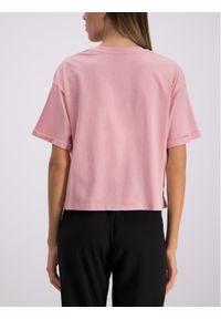 Różowy t-shirt Versace Jeans