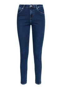 Guess Jeansy Skinny Fit Lush W1RA95 D4663 Granatowy Skinny Fit. Kolor: niebieski