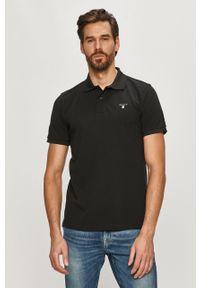 Czarna koszulka polo GANT krótka, polo