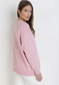 Born2be - Różowa Bluza Leupheia. Kolor: różowy. Materiał: bawełna. Długość rękawa: długi rękaw. Długość: długie