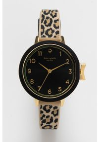 Kate Spade - Zegarek. Kolor: brązowy. Materiał: tworzywo sztuczne, materiał