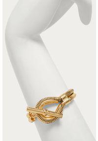 Złota bransoletka Kate Spade metalowa