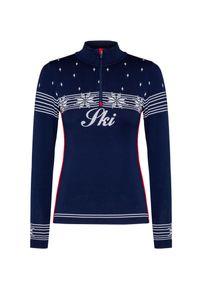 Niebieski sweter Newland z golfem, na zimę