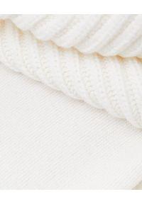 LE TRICOT PERUGIA - Kremowy sweter z odpiananym golfem. Typ kołnierza: golf. Kolor: biały. Materiał: jedwab, wełna, kaszmir. Sezon: jesień, zima