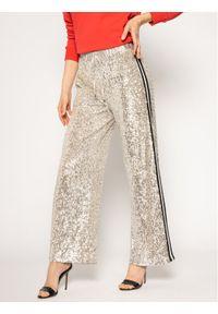 Srebrne spodnie materiałowe Guess