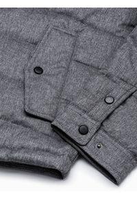 Szara kurtka Ombre Clothing na wiosnę, elegancka #10