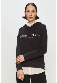 Czarna bluza Marc O'Polo długa, na co dzień, gładkie, casualowa