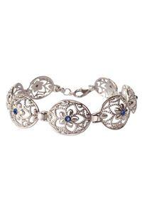 Srebrna bransoletka srebrna, z kryształem