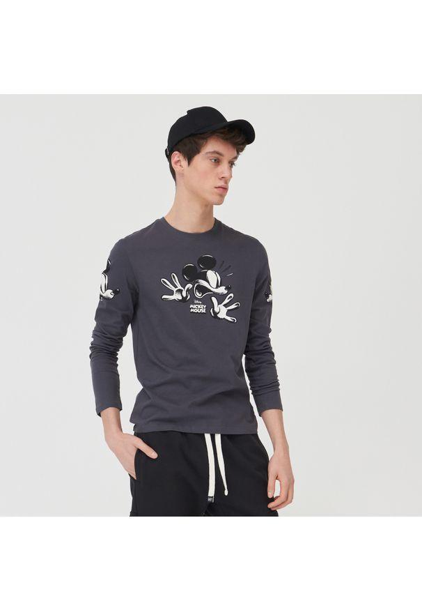 Sinsay - Koszulka Myszka Miki - Szary. Kolor: szary