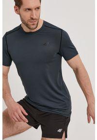 4f - 4F - T-shirt. Okazja: na co dzień. Kolor: zielony. Materiał: włókno, dzianina. Wzór: gładki. Styl: casual