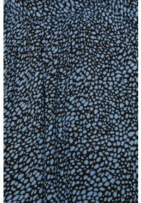 Niebieska sukienka Jacqueline de Yong midi, z długim rękawem, prosta, z okrągłym kołnierzem