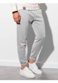Ombre Clothing - Spodnie męskie dresowe P991 - szare - XXL. Okazja: na co dzień. Kolor: szary. Materiał: dresówka. Styl: sportowy, casual
