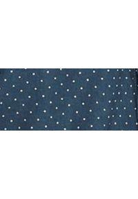 TOP SECRET - Koszula z lnem. Typ kołnierza: kołnierzyk klasyczny. Kolor: niebieski. Materiał: len. Długość rękawa: krótki rękaw. Długość: krótkie. Wzór: kropki. Sezon: lato. Styl: klasyczny #2