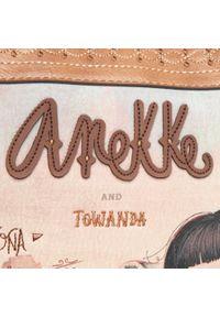 Anekke - Torebka ANEKKE - Arizona AN30702-07ARC Brązowy Kolorowy. Kolor: brązowy. Wzór: kolorowy. Materiał: skórzane. Rodzaj torebki: na ramię