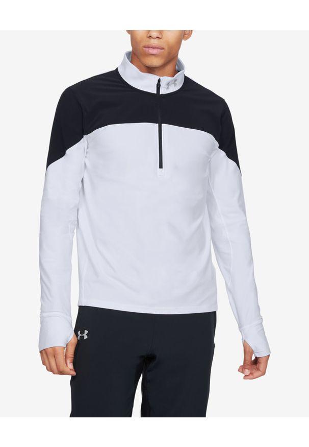 Biała bluza Under Armour w kolorowe wzory, sportowa, długa