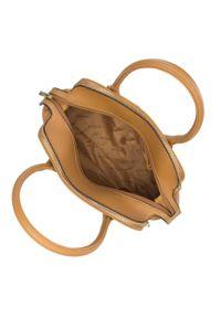 Wittchen - Torebka kuferek trzykomorowa. Kolor: beżowy. Materiał: skórzane. Styl: casual. Rodzaj torebki: na ramię