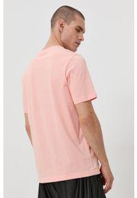 adidas Originals - T-shirt bawełniany. Okazja: na co dzień. Kolor: różowy. Materiał: bawełna. Wzór: nadruk. Styl: casual
