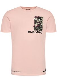 Różowy t-shirt Jack & Jones