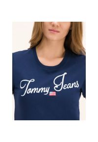 Niebieski t-shirt Tommy Jeans vintage