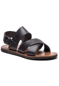 Czarne sandały Wojas klasyczne, na lato