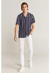 Niebieska koszula Mango Man z krótkim rękawem, krótka, klasyczna