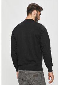 Czarna bluza nierozpinana Diesel na co dzień, z nadrukiem, casualowa, bez kaptura