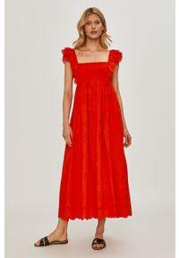 Czerwona sukienka TwinSet casualowa, gładkie