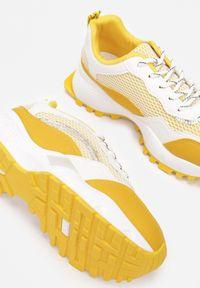 Born2be - Żółte Sneakersy Augurs. Kolor: żółty