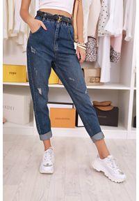 Niebieskie jeansy IVET casualowe, z podwyższonym stanem, na co dzień