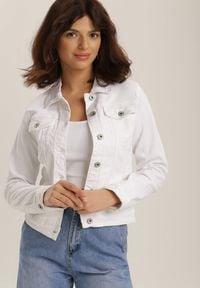 Biała kurtka jeansowa Renee
