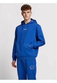 Jack & Jones - Jack&Jones Bluza Elias 12195574 Niebieski Oversize. Kolor: niebieski