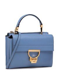 Niebieska torebka klasyczna Coccinelle skórzana