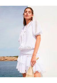 CHARO RUIZ IBIZA - Biała koronkowa bluzka Estela. Kolor: biały. Materiał: koronka. Wzór: ażurowy. Styl: klasyczny, wakacyjny