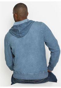 """Bluza rozpinana z kapturem bonprix niebieski """"used"""". Typ kołnierza: kaptur. Kolor: niebieski #7"""